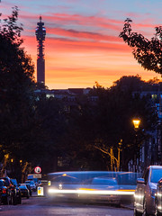 BT Tower at sunset