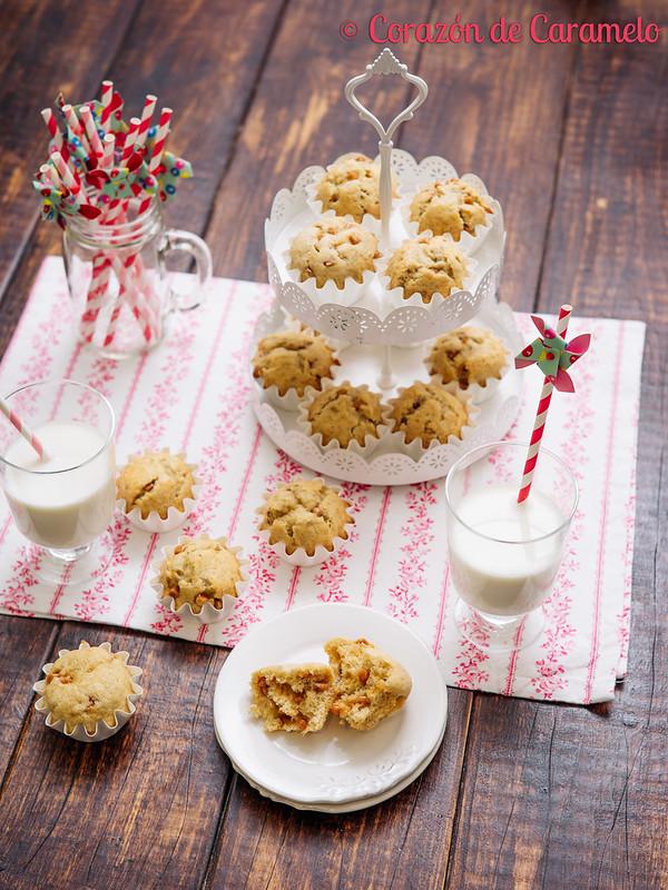Muffins de Plátano y Caramelo