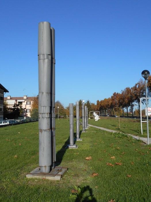 scultura, totem monumentali, Luciano Ceschia,  parco, Terzo di Aquileia