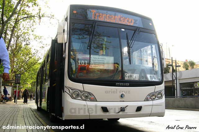 Transantiago - Inversiones Alsacia - Caio Mondego L / Volvo (CJRF47)