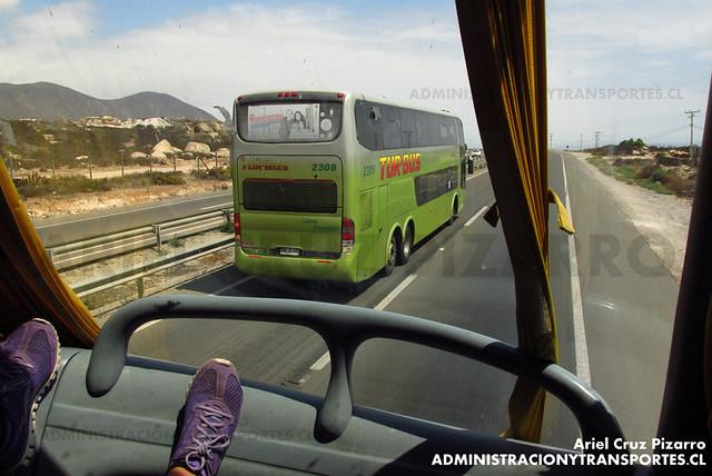 Tur Bus (Cama Premium) - Coquimbo - Marcopolo Paradiso 1800 DD / Mercedes Benz (CWJG86)