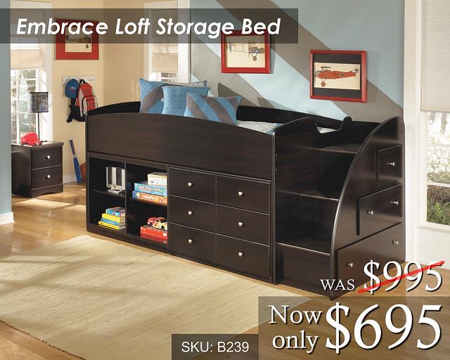 Embrace Loft Storage Bed 695