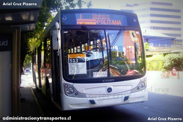 Transantiago - Buses Metropolitana / Metbus - Caio Mondego H / Mercedes Benz (BFKC53)
