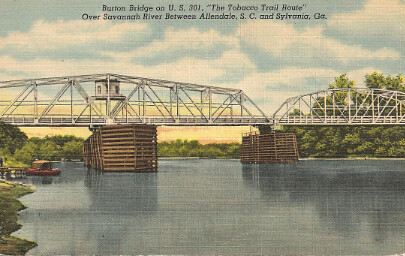Burton Bridge on 301 postcard
