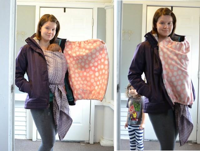 babywearing fleece coat insert