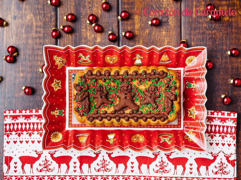 Bizcocho navideño con chocolate