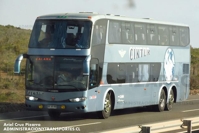 Ciktur - Norte Chile - Marcopolo Paradiso 1800 DD / Volvo (BVVY90)