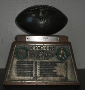 Dartmouth - 1970 Undefeated Ivy League Championship Trophy (1/5)