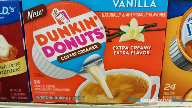 Dunkin Donuts Vanilla Single Serve Coffee Creamer