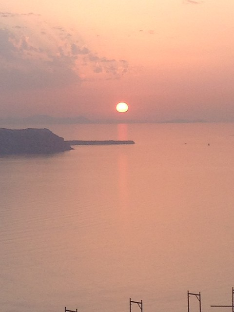 フィラの夕日