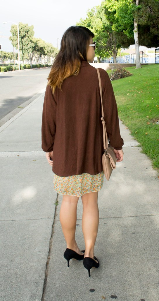 DIY Brown Fall Cardigan