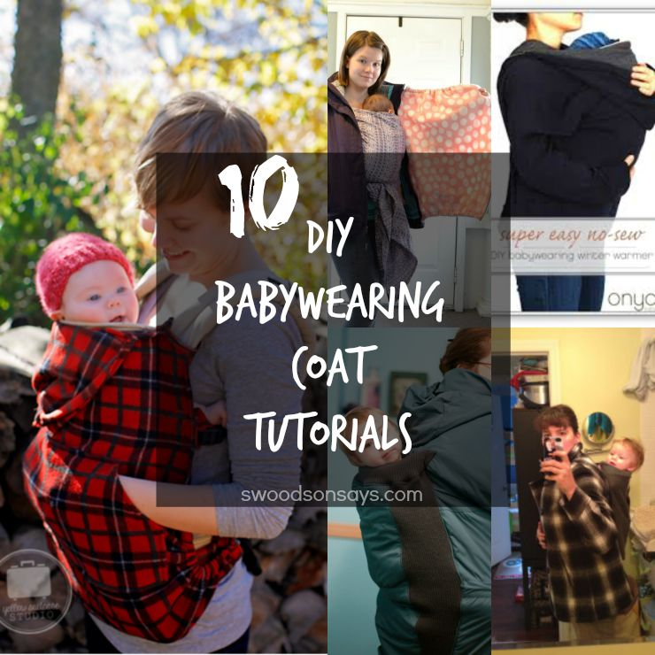 DIY babywearing coat and carrier cover tutorials