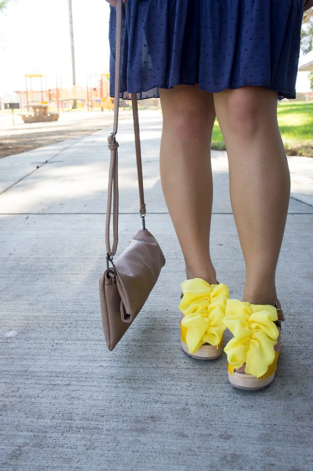 Yellow Ruffled Shoes