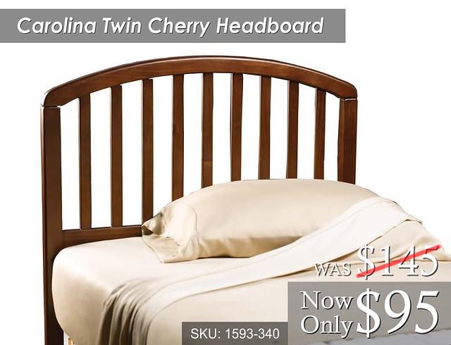 Carolina Twin Cherry Headboard (1593-340) Was 145 Now 95