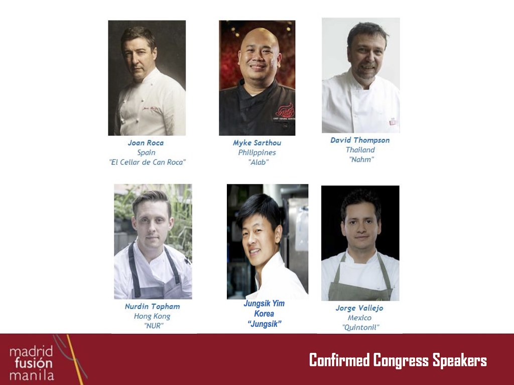 Confirmed Chefs as of Nov 26-2