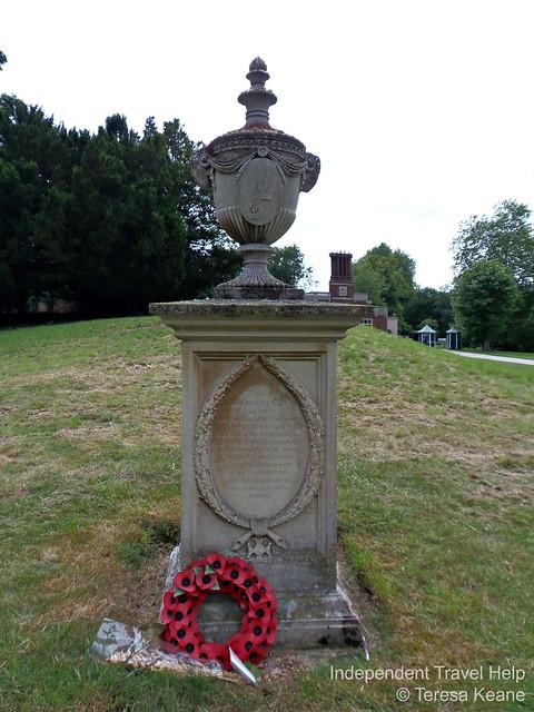 Polish War Memorial in Audley End Gardens