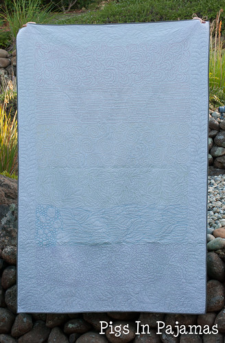 Rainbow sampler quilt front