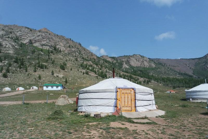 Yurta en el Terelj