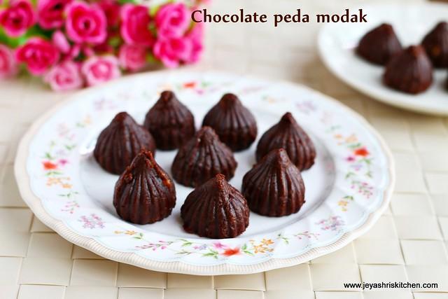 Chocolate peda -modak