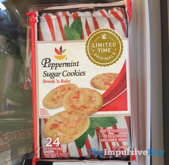 Giant Limited Time Originals Break 'n Bake Peppermint Sugar Cookies