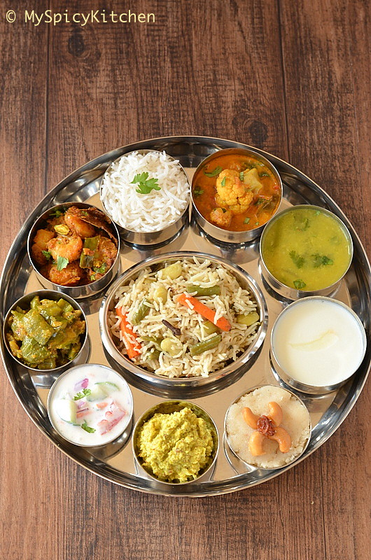 A platter of Telangana Food or a Thali as we call in India and it includes an entire meal.