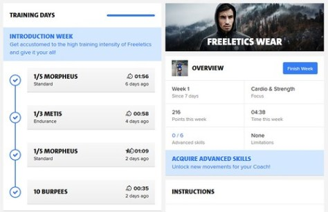 Freeletics Week 01