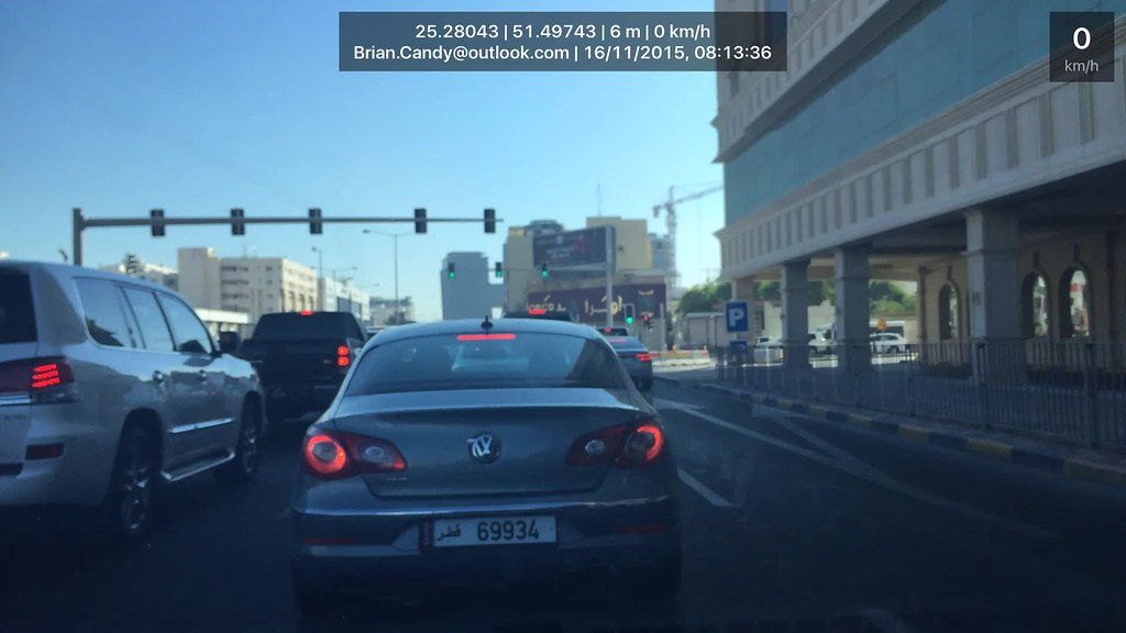 iPhone Used as a Dash Cam