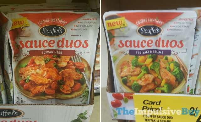 Stouffer's Sauce Duos Tuscan Herb and Teriyaki & Sesame