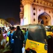 India - Telangana - Hyderabad - Streetlife At Night With Auto Rickshaw - 1.