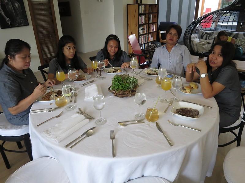 The maids having brunch