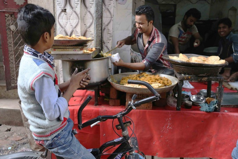 City Food - Yellow Sooji Halwa, Muhammed Sajid's Mithai Shop