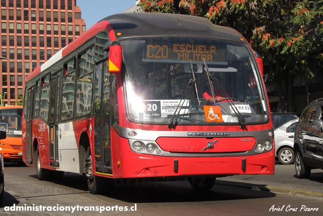 Transantiago - Redbus Urbano - Neobus Mega BRT / Volvo (CJRK83) (345)