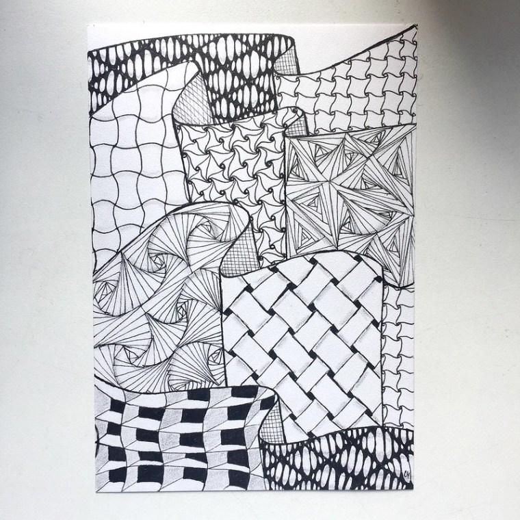 5th homework Zentangle: geometric tangles