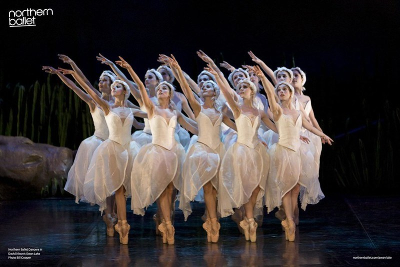 Northern Ballet dancers in Swan Lake (2). Photo by Bill Cooper.