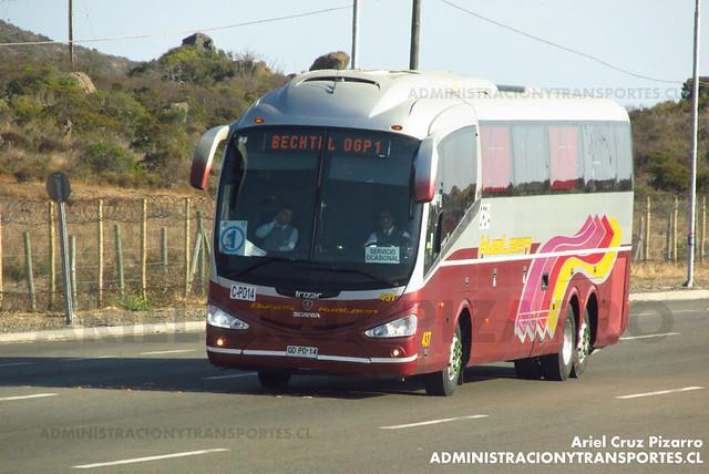 Buses Hualpén (Betchtel OGP1) - Pichidangui - Irizar I6 / Scania (GDPD14)