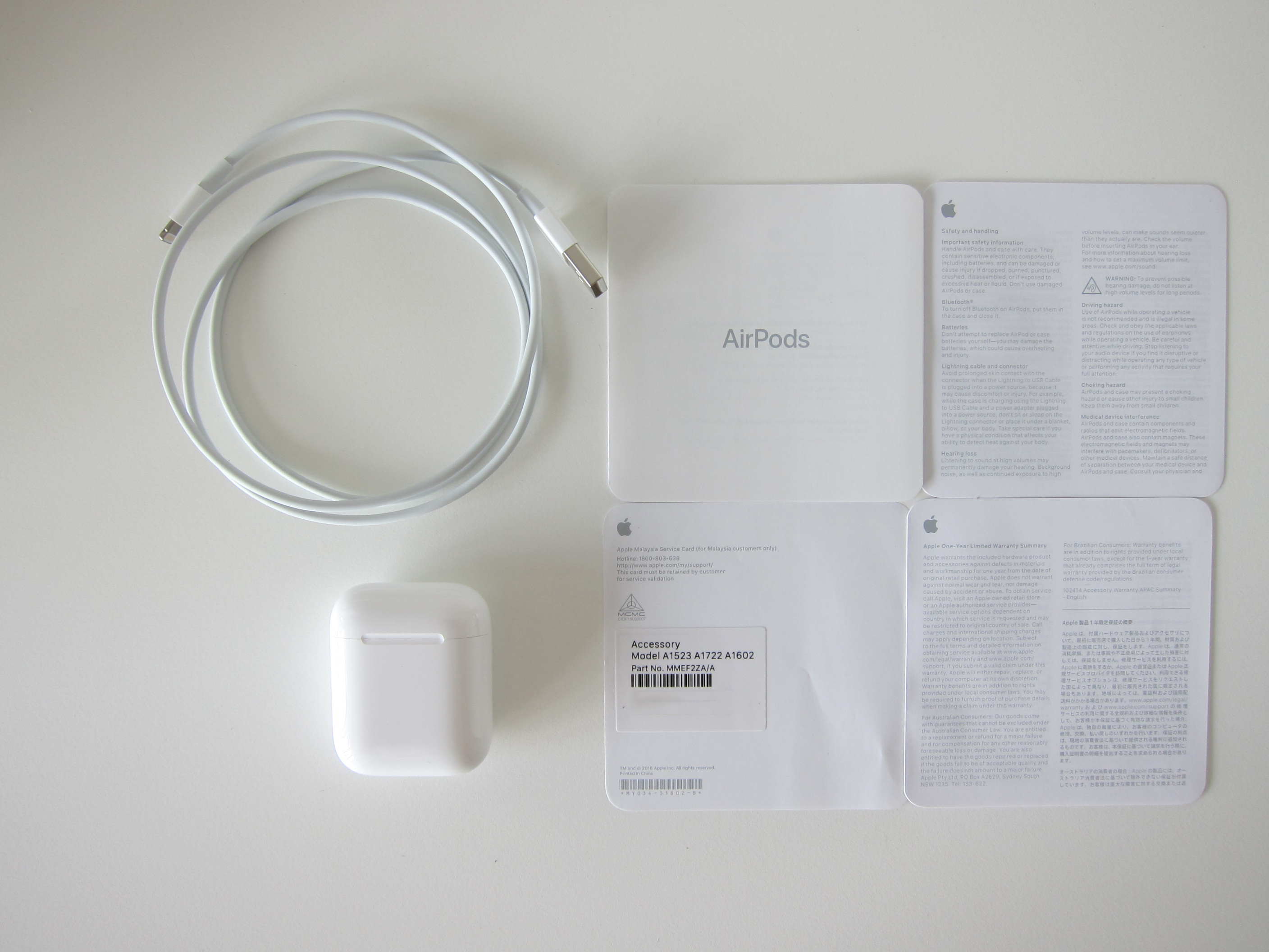Apple AirPods      Blog   lesterchan net Apple AirPods   Box Contents