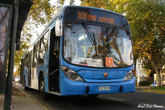 Transantiago - Inversiones Alsacia - Marcopolo Gran Viale / Volvo (ZJ1818)