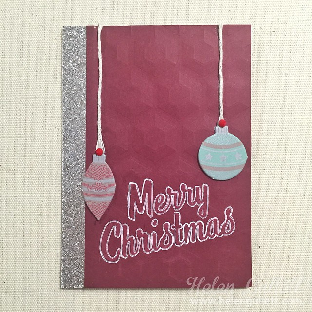 Embossed Merry Christmas