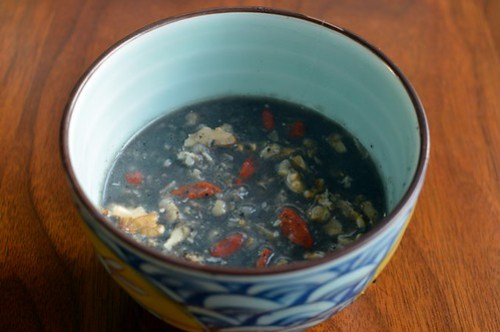 Black sesame porridge