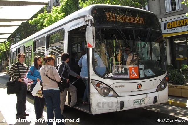 Transantiago - Inversiones Alsacia - Marcopolo Gran Viale / Volvo (Zn4335)