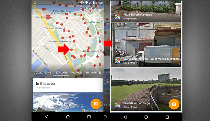 Google street view in mobile 2