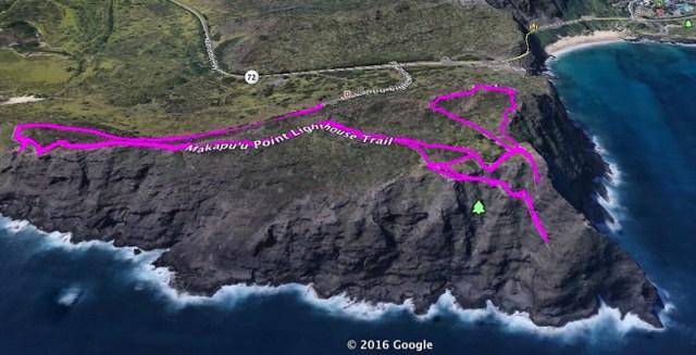 Makapuu Lighthouse Trail Map