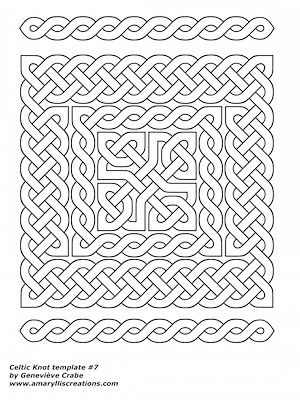 Celtic knot template 7