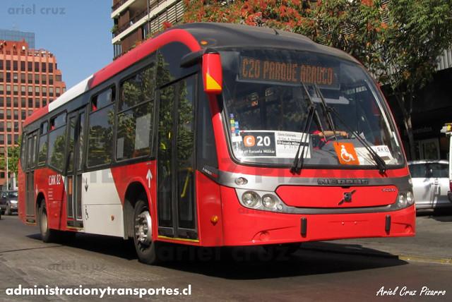 Transantiago - Redbus Urbano - Neobus Mega BRT / Volvo (CJRK82) (344)