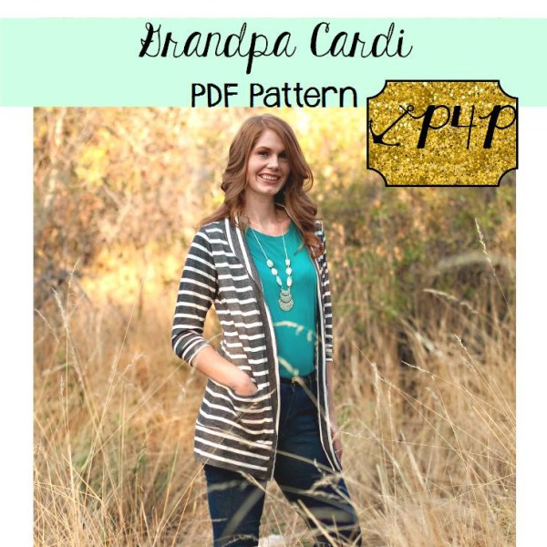 Grandpa cardigan PDF sewing