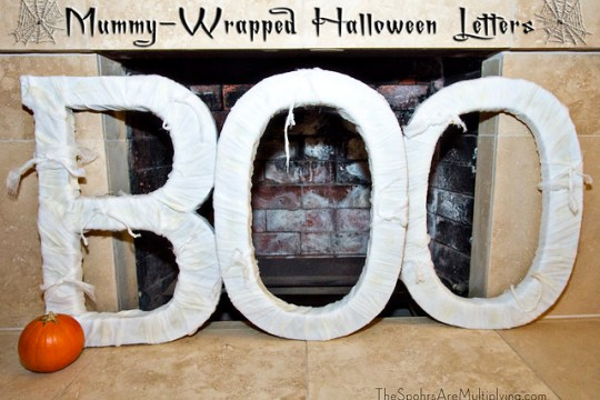 mummy-wrapped letters