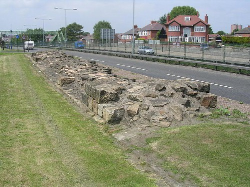 The curtain wall west of the A1