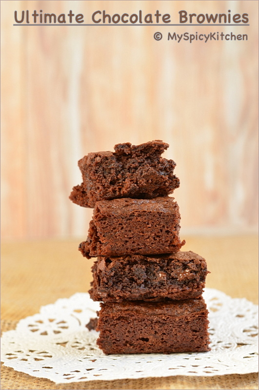 Brownies, Chocolate Chips Brownie, CCChallenge, Ultimate Chocolate Brownie