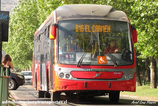 Transantiago - Redbus Urbano - Neobus Mega BRT / Volvo (CJRK48) (1341)