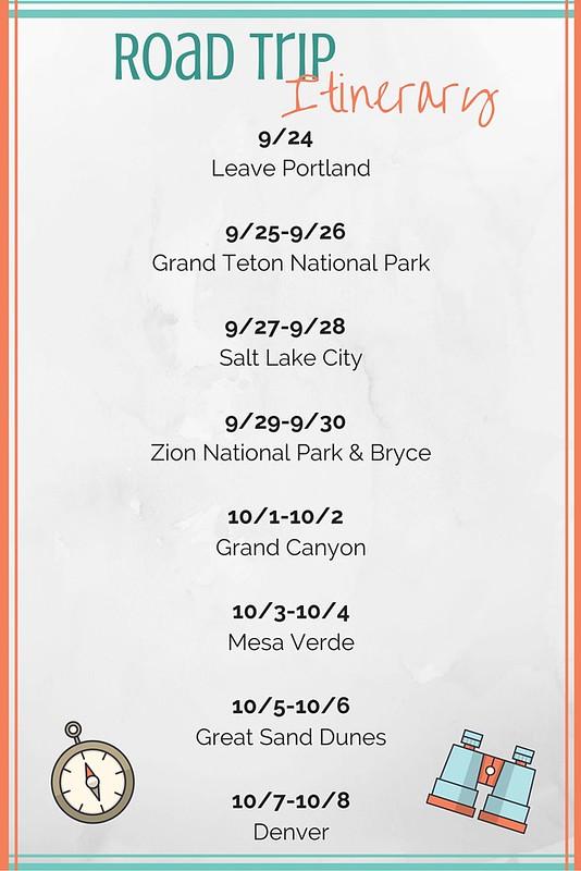 9-24 Leave Portland9-25-9-26 Grand Teton